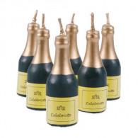 Kerzenset Champagnerflaschen